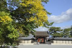 Palace Entrance Gate Kyoto Stock Photography