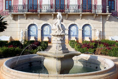 Palace of Estoi fountain, a work of Romantic architecture Stock Images