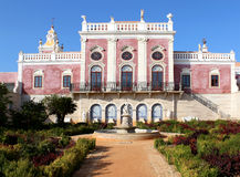 Palace of Estoi, a work of Romantic architecture unique in Stock Photography