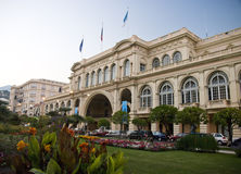 Palace Europe in Menton. Elegant building of Europe Palace in Menton, French Riviera Stock Images