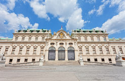 Palace facade the bottom Belvedere Royalty Free Stock Images