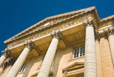 Palace facade with columns in Versailles Royalty Free Stock Photos