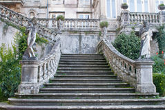 Palace facade and stairs Royalty Free Stock Image