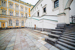 Palace of Facets. The area near the Faceted Chamber of the Moscow Kremlin stock images