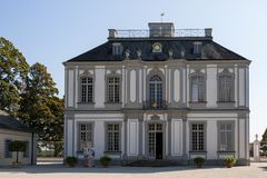 The palace of Falkenlust. The Falkenlust palaces is a historical building complex in Brühl, North Rhine-Westphalia. The palace of Falkenlust. The Falkenlust Royalty Free Stock Photo