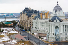 Palace of farmers and residential complex Dvortsovaya Embankment in Kazan, Russia Stock Images