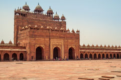 Palace in Fatehpur Sikri. Fatehpur Sikri - Courtyard Palace with Tombs Royalty Free Stock Photo