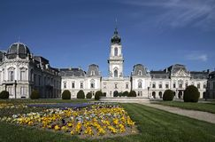 Palace of Festetics in Keszthely. Facade of the Palace of  Festetics in Keszthely at Lake, Hungary Royalty Free Stock Image
