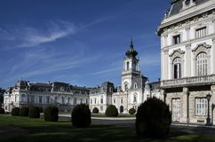 Palace of Festetics in Keszthely. Facade of the Palace of  Festetics in Keszthely at Lake, Hungary Stock Photography
