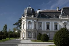 Palace of Festetics in Keszthely. Facade of the Palace of  Festetics in Keszthely at Lake, Hungary Stock Photos