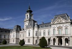 Palace of Festetics in Keszthely Stock Photo