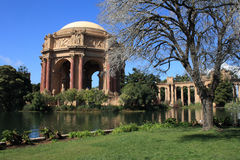 Palace of Fine Arts. And lake in San Francisco USA Royalty Free Stock Photo