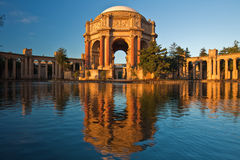 Palace of Fine Arts. The Palace of Fine Arts is a monumental structure originally constructed for the 1915 Panama-Pacific Exposition in order to exhibit works of royalty free stock photography