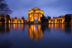 Palace of Fine Arts. Museum at Night in San Francisco Royalty Free Stock Photos