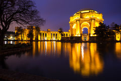 Palace of Fine Arts. Museum at night in San Francisco, California Stock Image