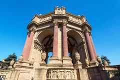 Palace of Fine Arts and Blue Sky Stock Image