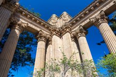 Palace of Fine Arts Columns Stock Image