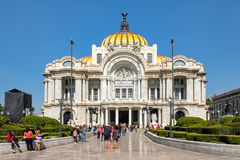 The Palace of Fine Arts, a famous concert venue, museum and theater in Mexico City Royalty Free Stock Photo