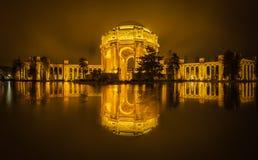 Palace of Fine Arts & Golden Sky Royalty Free Stock Photos