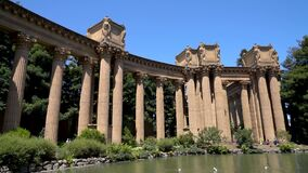 The Palace of Fine Arts is a monumental structure in San Francisco, USA