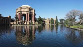 Palace of Fine Arts in the Morning stock video footage