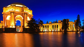 Palace of Fine Arts at Night in San Francisco Stock Images