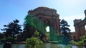 Palace of Fine Arts. San Francisco Palace royalty free stock image