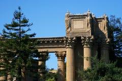 Palace of fine arts, San Francisco. Big Gate architecture of Palace of fine arts, San Francisco, California, USA. Amphora and colonnade at Exploratorium Stock Images