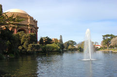 Palace of Fine Arts in San Francisco, California Royalty Free Stock Photo