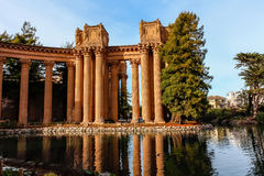 The Palace of Fine Arts in San Francisco California. Royalty Free Stock Photo