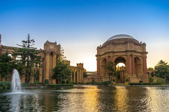 Palace of Fine Arts, San Francisco, at dusk. Royalty Free Stock Photos