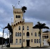 Palace of Florence Apartmemts. This is a picture of the historic Palace of Florence Apartments located in Tampa, Florida in Hillsborough County. This three-story royalty free stock photography