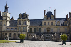 Palace of Fontainebleau.  France in summer.  Stock Photos