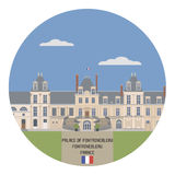 Palace of Fontainebleau. France Stock Photo