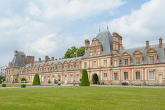 Palace of Fontainebleau in France Stock Photos