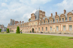 Palace of Fontainebleau in France royalty free stock image