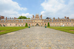 Palace of Fontainebleau in France royalty free stock photo