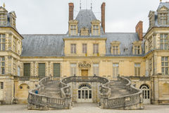 Palace of Fontainebleau in France stock images