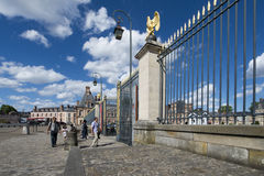 The Palace of Fontainebleau gates, France Stock Images