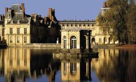 Palace of fontainebleu paris france Royalty Free Stock Image