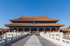 Palace in the forbidden city Royalty Free Stock Images