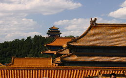 Palace of Forbidden City eaves Royalty Free Stock Images
