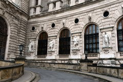 Palace is former imperial palace in centre of Vienna. Part of palace forms official residence and workplace of President of Austri. VIENNA, AUSTRIA - NOVEMBER 30 stock image