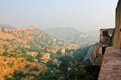 Palace-fortress in India. The amber Fort, the Palace-fortress in India Royalty Free Stock Photos