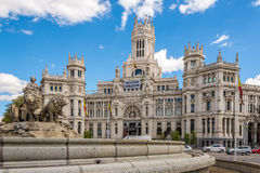 Palace and fountain of Cybele (City Hall) in Madrid Royalty Free Stock Photo