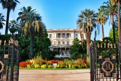 Palace the French Riviera, cityscape of Nice France Stock Photography