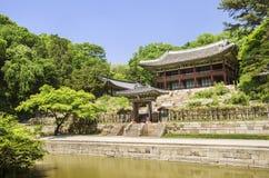 Palace garden building seoul south korea Stock Image