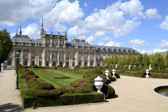 Palace, garden in foreground. La granja de San Ildefonso, Spain Stock Photos