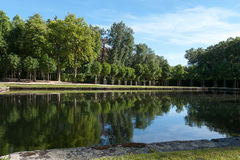 Palace garden pond Royalty Free Stock Photo