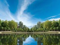 Palace garden pond Stock Photography